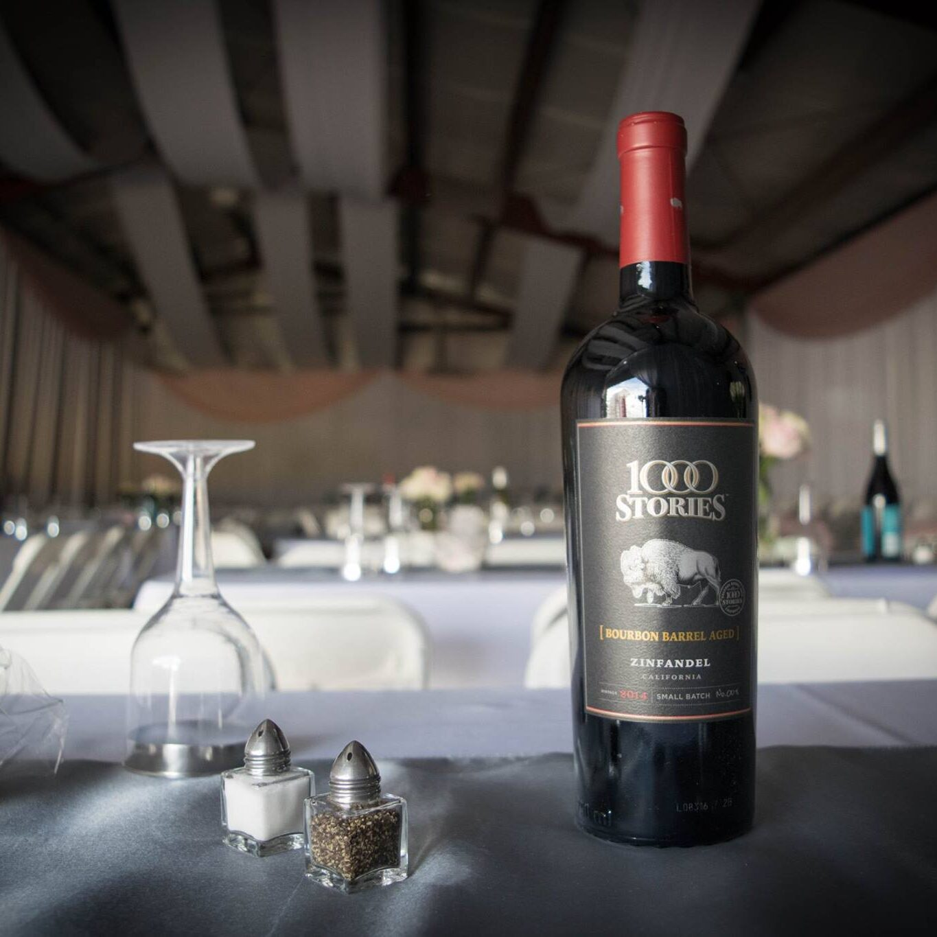 Wedding Reception with red wine